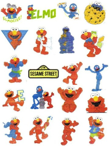Elmo Muppet Embroidery Designs Television Show Sesame
