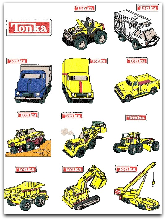 TONKA TRUCKS TOYS construction equipment. CHARACTER ...
